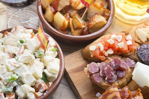 Tapas typical food spanish