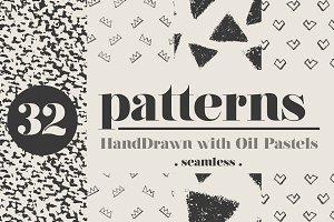 Hand Drawn Seamless Vector Patterns