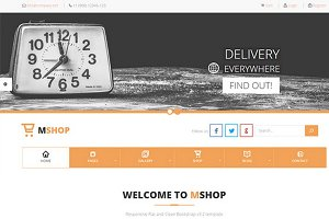 MShop – E-Commerce Delivery Theme