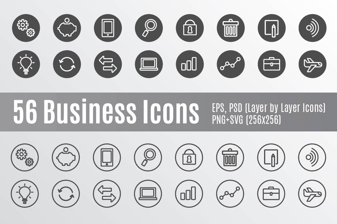 56 Business Icons Creative Market
