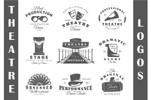 9 Theatre logos templates Vol.1