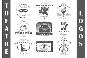 9 Theatre logos templates Vol.2