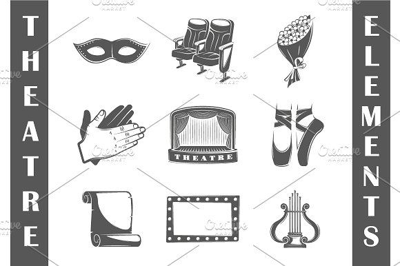 9 Theatre logos templates Vol.2 in Logo Templates - product preview 1