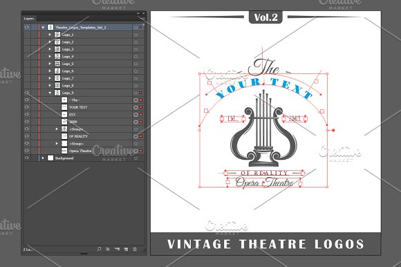 9 Theatre logos templates Vol.2 in Logo Templates - product preview 3