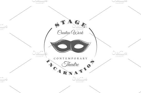 9 Theatre logos templates Vol.2 in Logo Templates - product preview 4