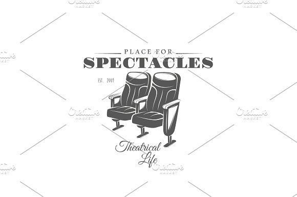 9 Theatre logos templates Vol.2 in Logo Templates - product preview 5