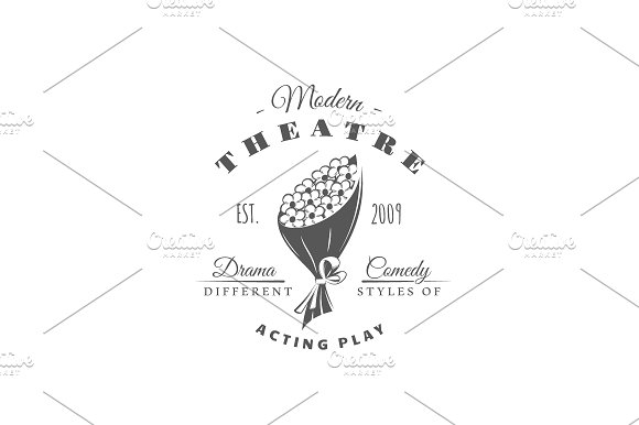 9 Theatre logos templates Vol.2 in Logo Templates - product preview 6