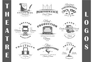 9 Theatre logos templates Vol.3
