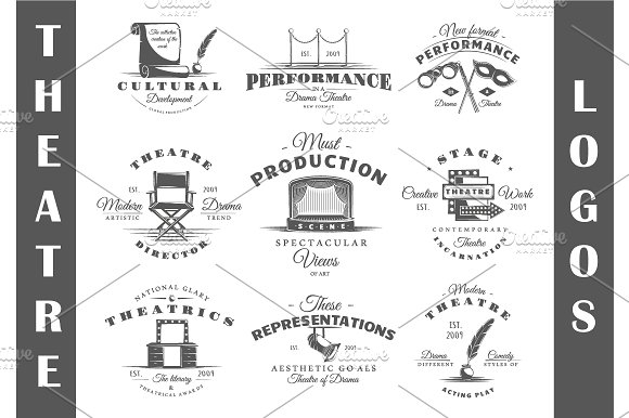 9 Theatre logos templates Vol.3
