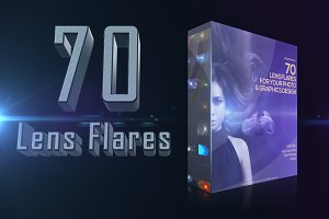 70 Lens Light Flares Bundle