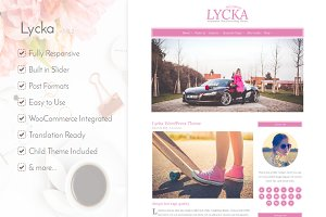 Lycka - Minimalist WordPress Theme