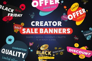 Sale banner and Discount tag kit