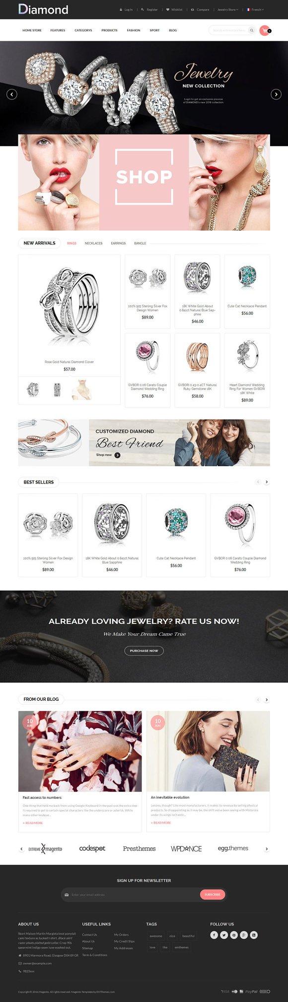 Diamond Store Magento1 2 Theme