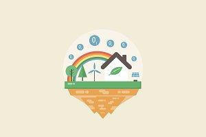 levitating eco island