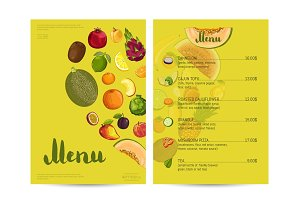 Vegetarian restaurant food menu design