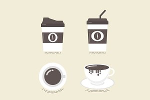 flat coffee icon