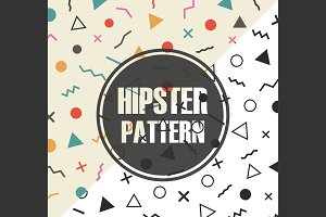 retro hipster pattern