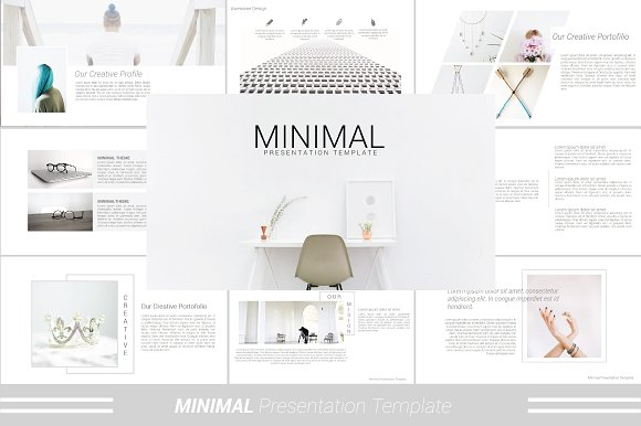 minimal powerpoint template presentation templates creative market