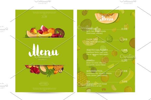 Vegan Cafe Food Menu Design