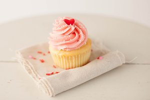 Heart Topped Cupcake
