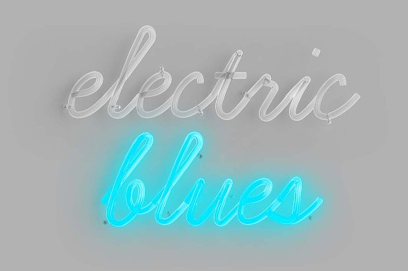 Cursive Neon Type Graphic Objects Creative Market