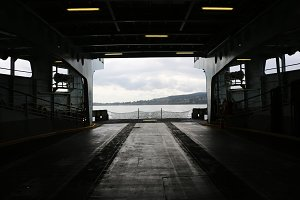 Rear Perspective of Ferry Boat
