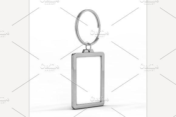 Blank Metal Keychain Mockup