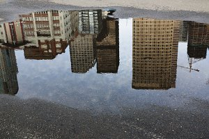 Reflection of Buildings in Seattle