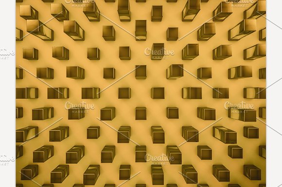 Glass Gold Background