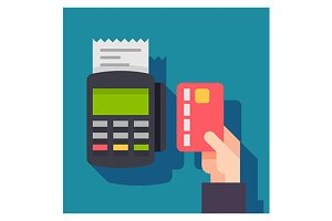 Payment terminal illustration icon