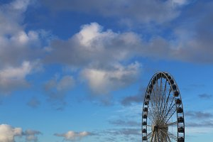 Ferris Wheel with Blue Skies 2