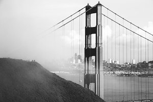 Black and White Golden Gate Bridge