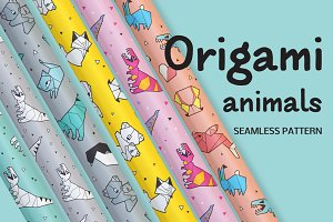 Origami animals pattern