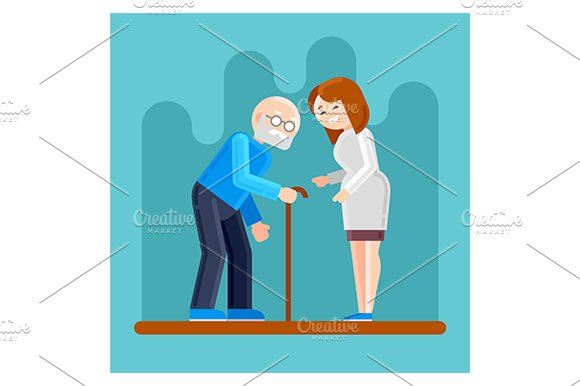 Nurse Helps Disabled Old Man
