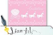 Pink Greeting Card - Wedding Invitat