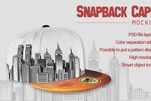 Snapback Caps Mockup