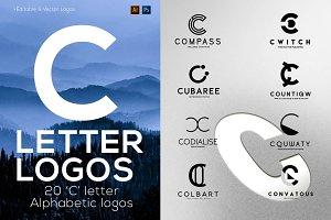 """20 """"C"""" Letter Alphabetic Logos"""