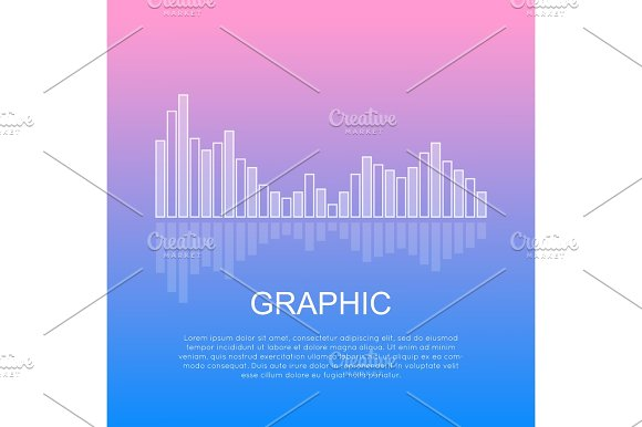 Graphic Reflecting Business Column Chart Isolated