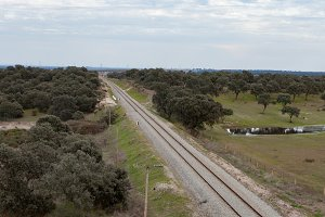 Railway track in the landscape