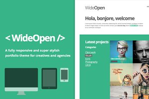 WideOpen: responsive WordPress theme