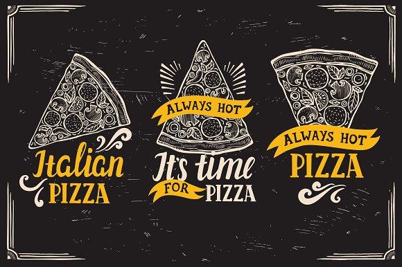 Pizza Logo Food Illustration
