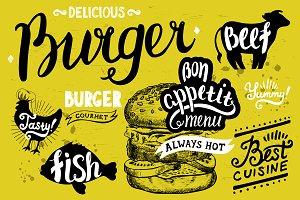 Burger logo illustration