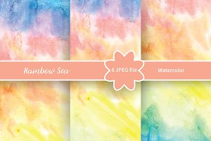 №238 Colorful watercolor