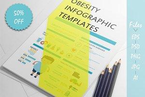 Obesity Infographics templates