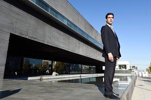 Businessman in urban background