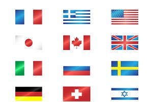 Flags metallic collection