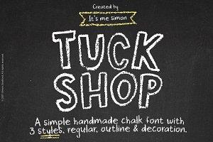 Chalkboard font Tuck Shop