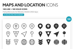 Maps and Locations Icons