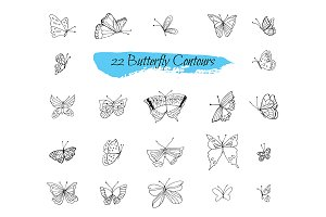 №240 Collection sketches Butterflies
