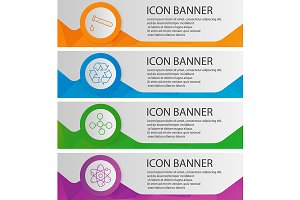 Chemical lab banners. Vector